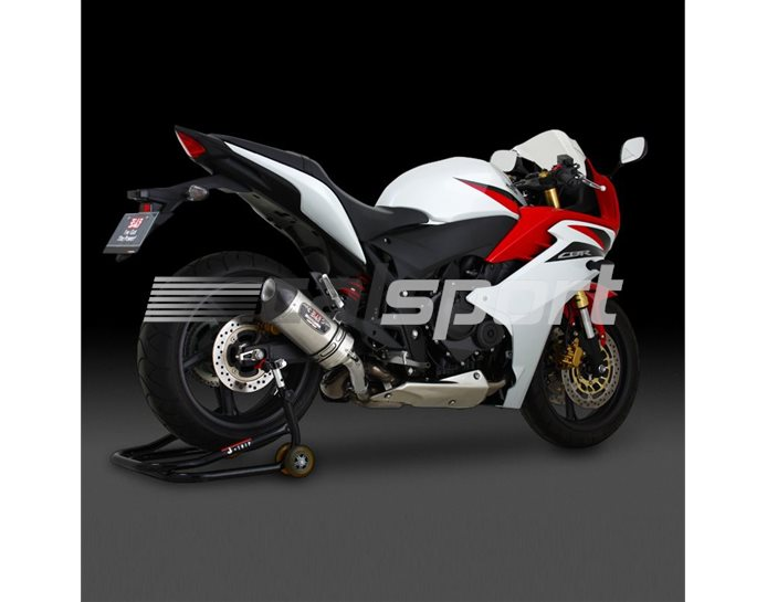 1A0-417-5W50 - Yoshimura Stainless R77S Slip On With Carbon Coned End Cap - Yoshimura Japan ROAD-LEGAL (Removable Baffle)
