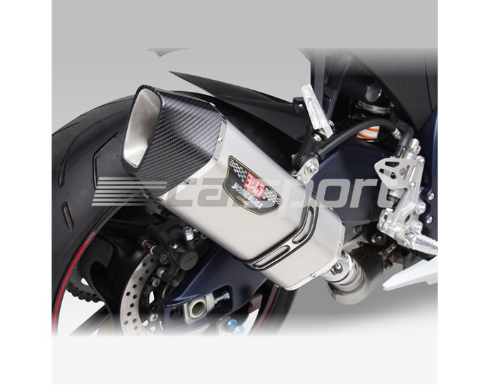 1A0-519-L05G0 - Yoshimura Stainless Hepta Force Slip On With Carbon Coned End Cap - Yoshimura Japan - Road-Legal (Removable Baffle)