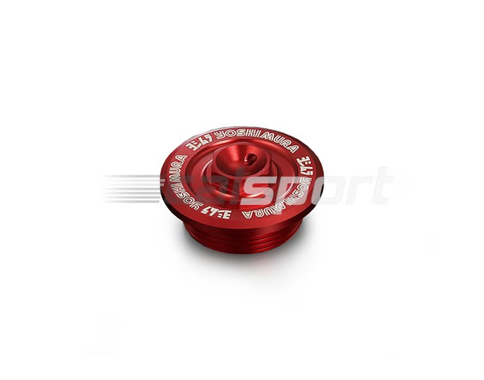 Yoshimura Japan Racing Oil Filler Cap - Red (Other Colours Available)