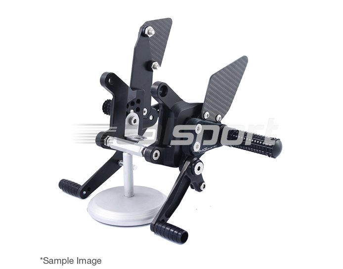 MG Biketec Sport Rearset Kit - Black