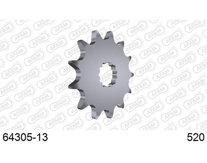 64305-13 - AFAM Front Sprocket, 520 (OE pitch), Steel - 13T (orig size)