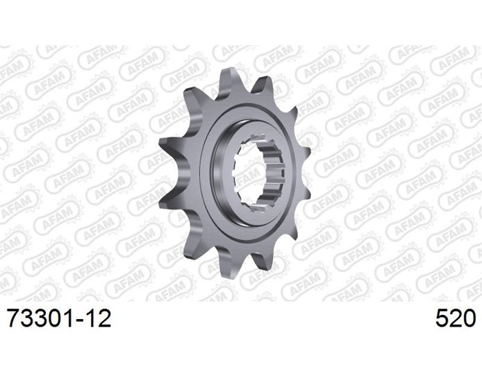 AFAM Front Sprocket, 520 (OE pitch), Steel - 12T