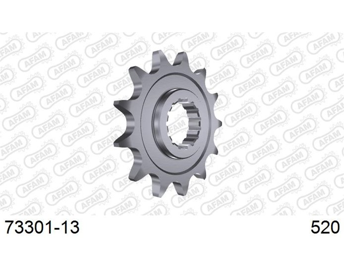 73301-13 - AFAM Front Sprocket, 520 (OE pitch), Steel - 13T (orig size)