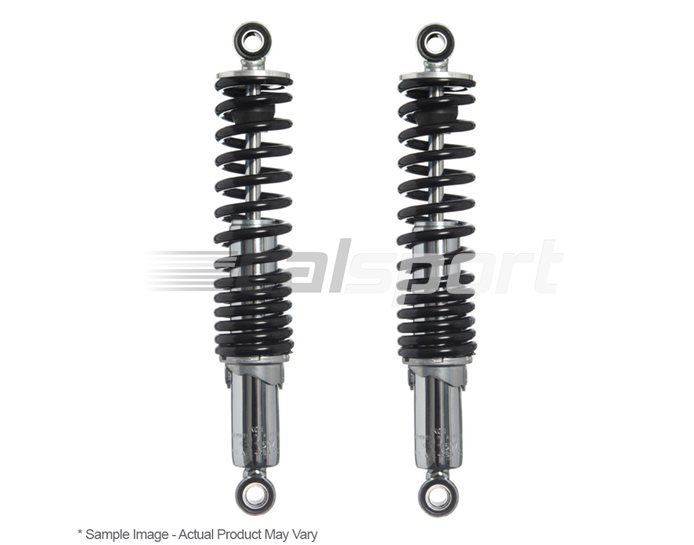 Ikon 76 Basix Shocks (Pair) - Chrome Body With Black Springs