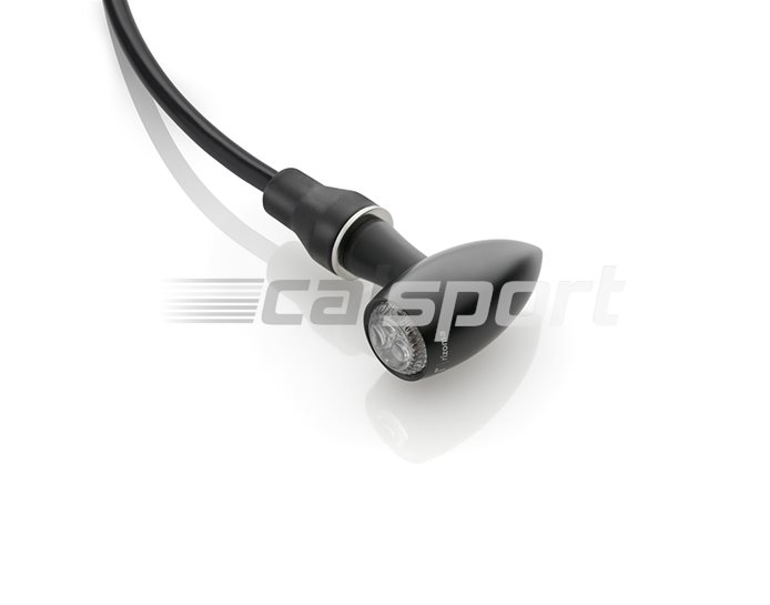 Rizoma Indicator CLUB S (inc tail and stop light), Black, other colours available - wiring adapters recommended